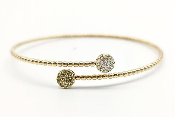 Cerchio diamanti bianchi e gialli