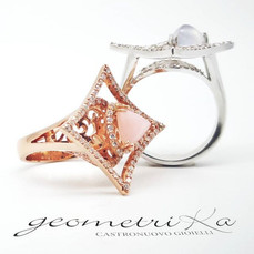 Anello geometrika rosè
