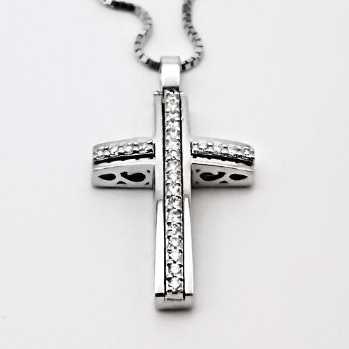 Croce forata e diamanti