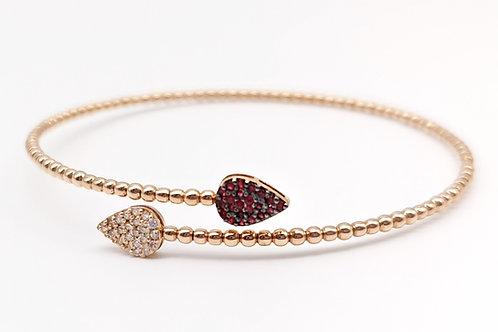 """Bracciale """"Goccia"""" diamanti e rubini"""