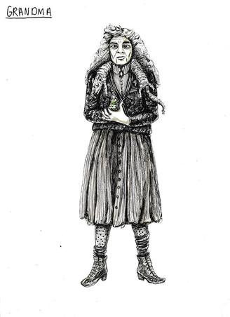 Costume Design for Grandma Addams: Jess Beyer & Adrienne Gantenberg