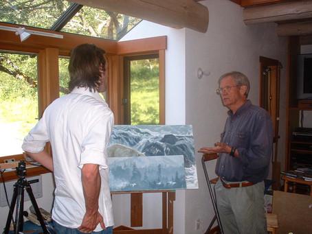 Meeting an artist