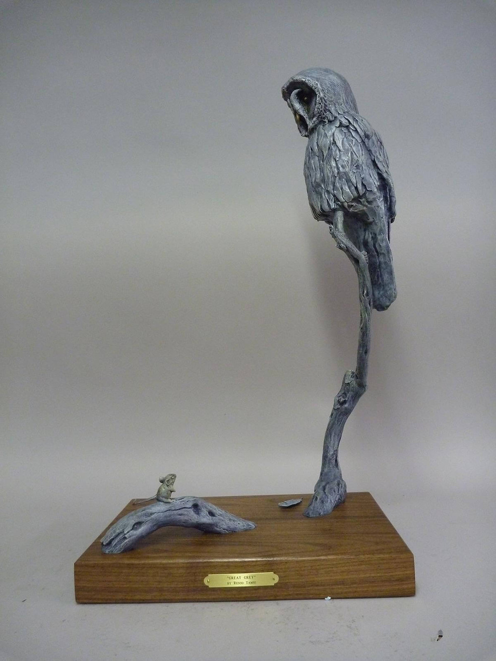 Renso Tamse Great Owl Bronze
