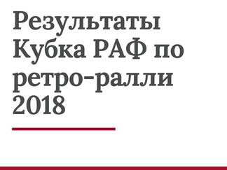 Результаты Кубка РАФ по ретро-ралли 2018 года