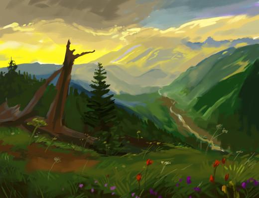Sunset Speed Painting