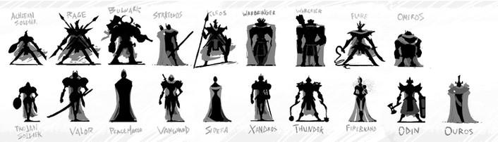 Machina Character Silhouettes