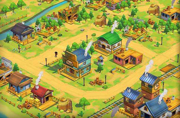 Project Caravan 3D town assets