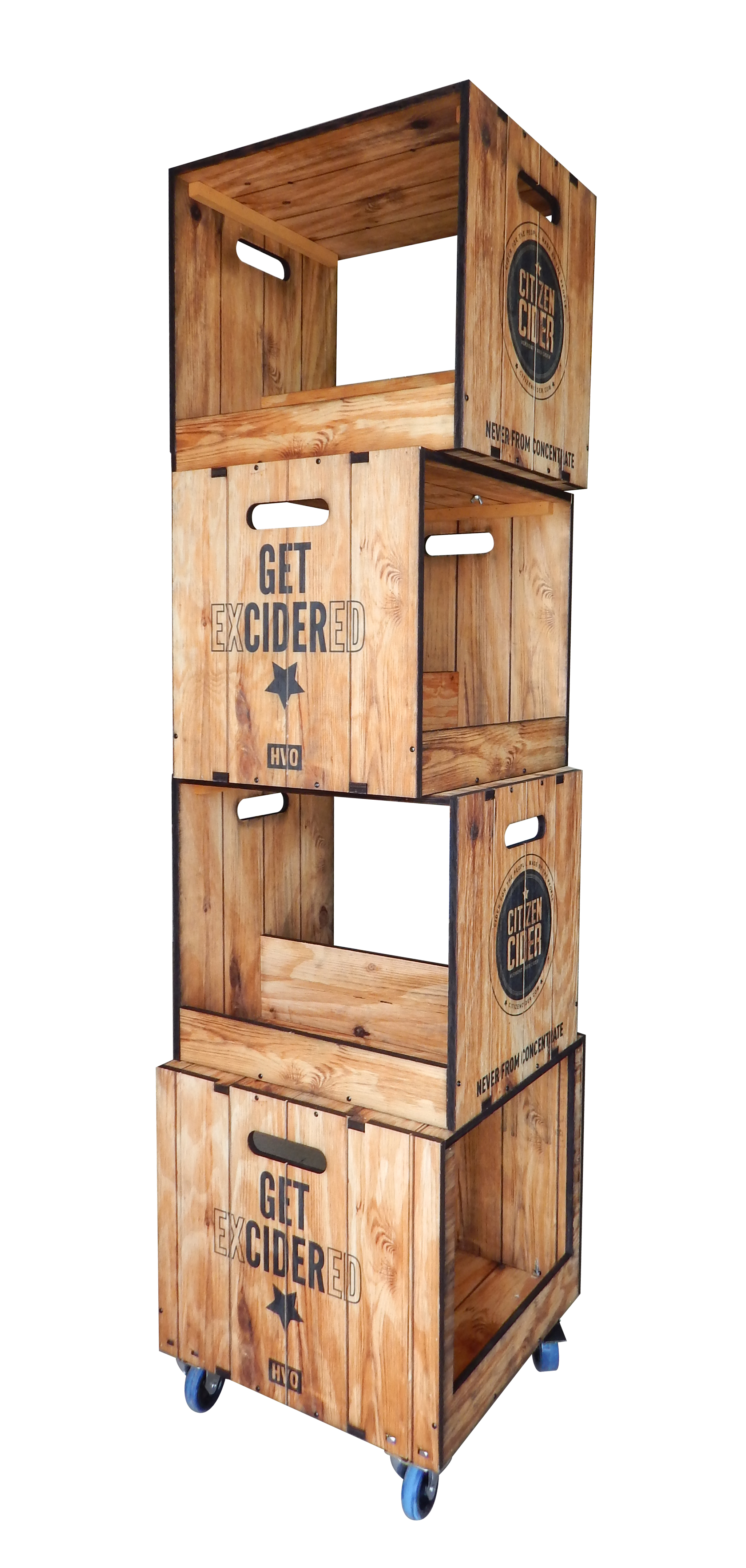 Citizen Cider Apple Crate Display