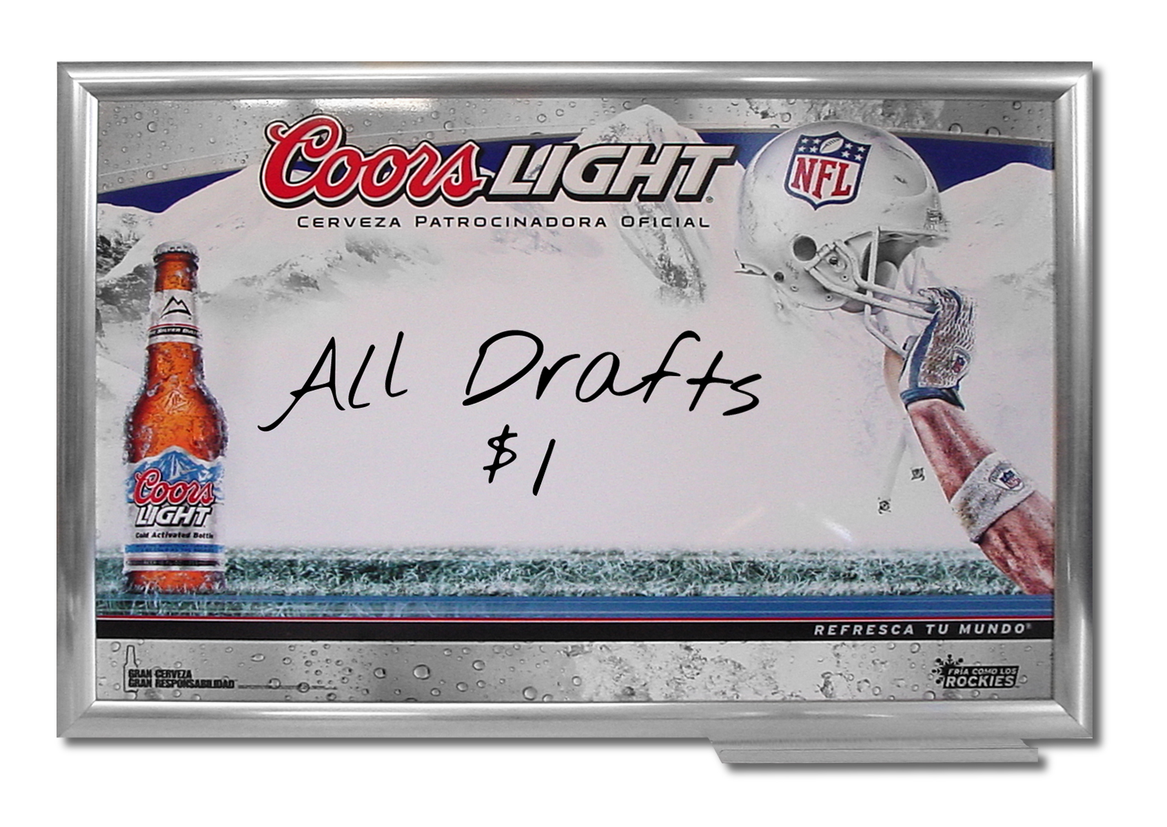 Coors Light NFL Markerboard