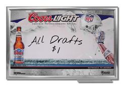 Coors Light NFL Markerboard