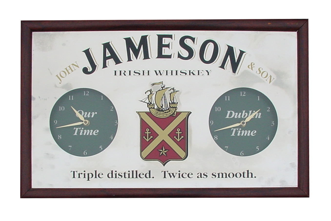 Jameson Mirror Clock