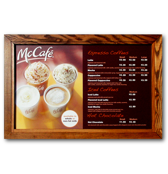 McDonald's Menu Board