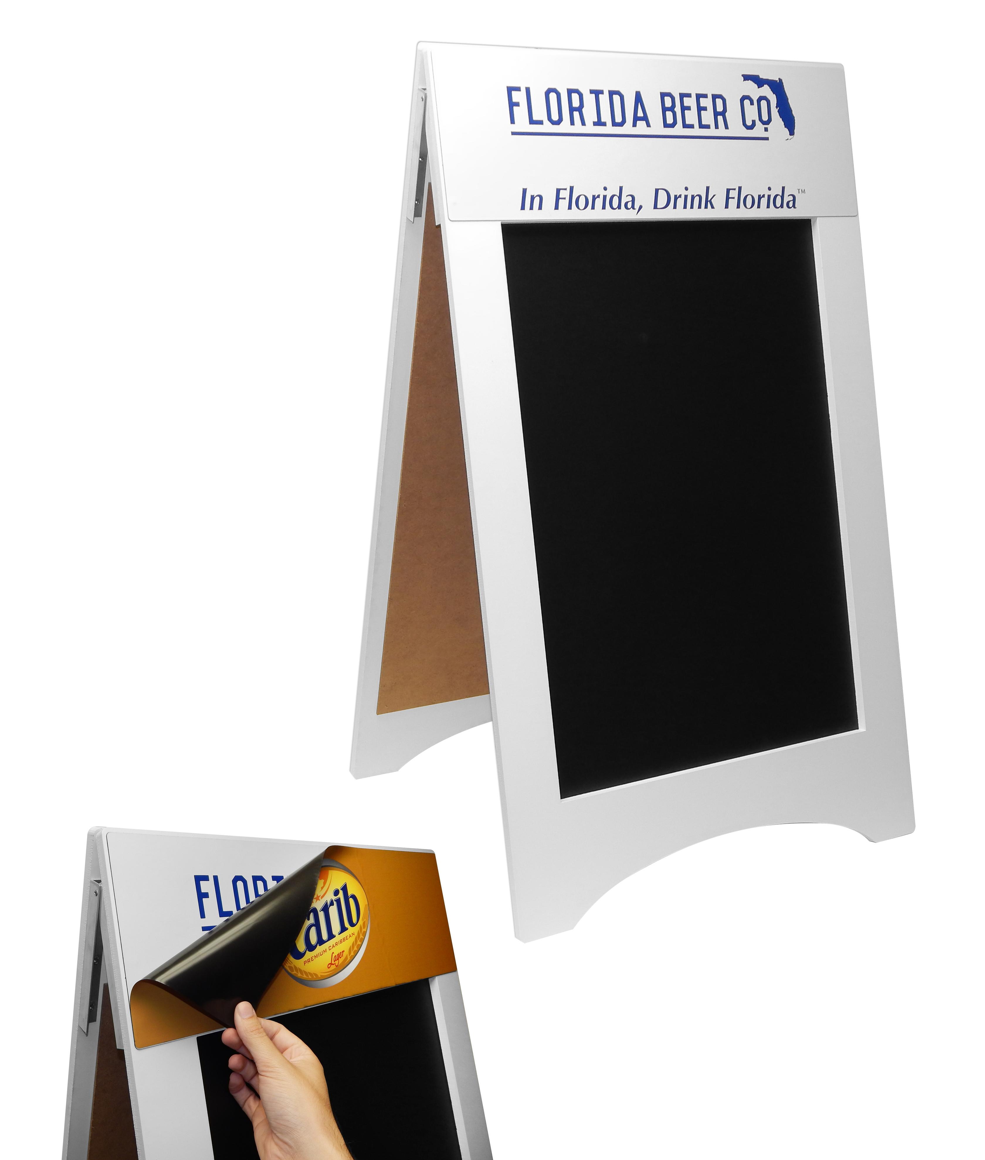 Florida Beer MDF Magnetic A-Frame