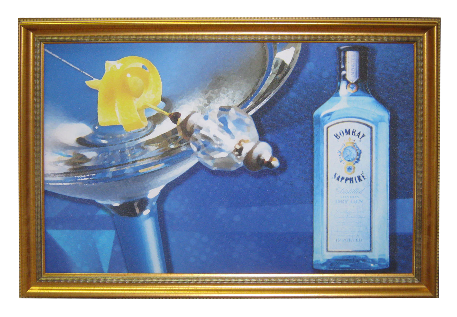 Bombay & Grey Goose Framed Canvas