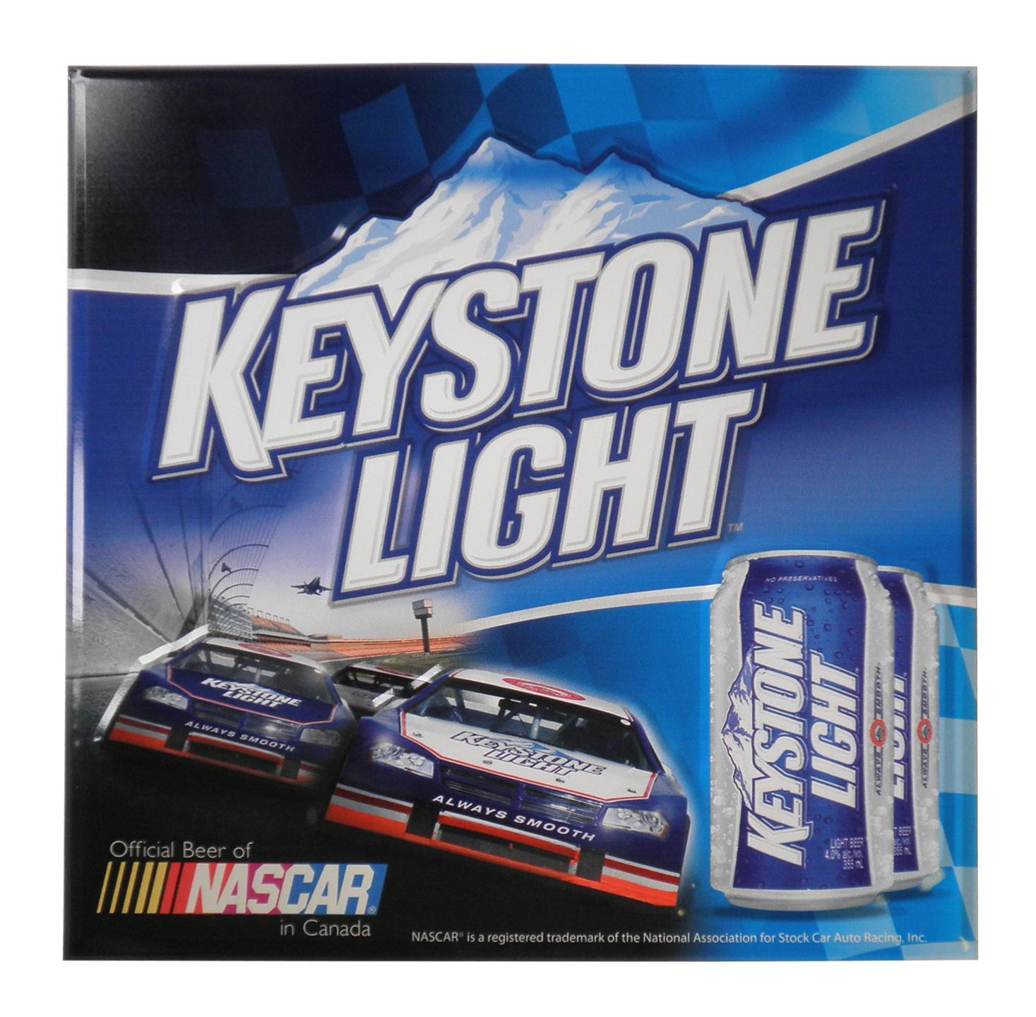 Keystone Light Nascar Tacker Sign