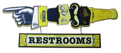 Traveler Restroom Sign