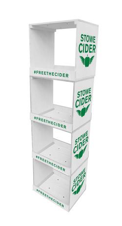 Stowe Cider Crate Display