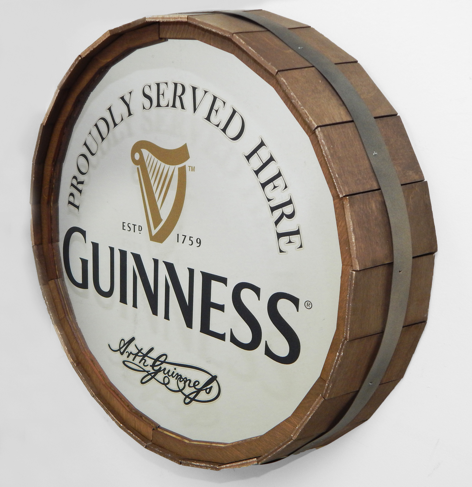 Guinness Barrel Head Mirror copy1