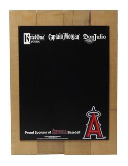 LA Angels Plank Chalkboard