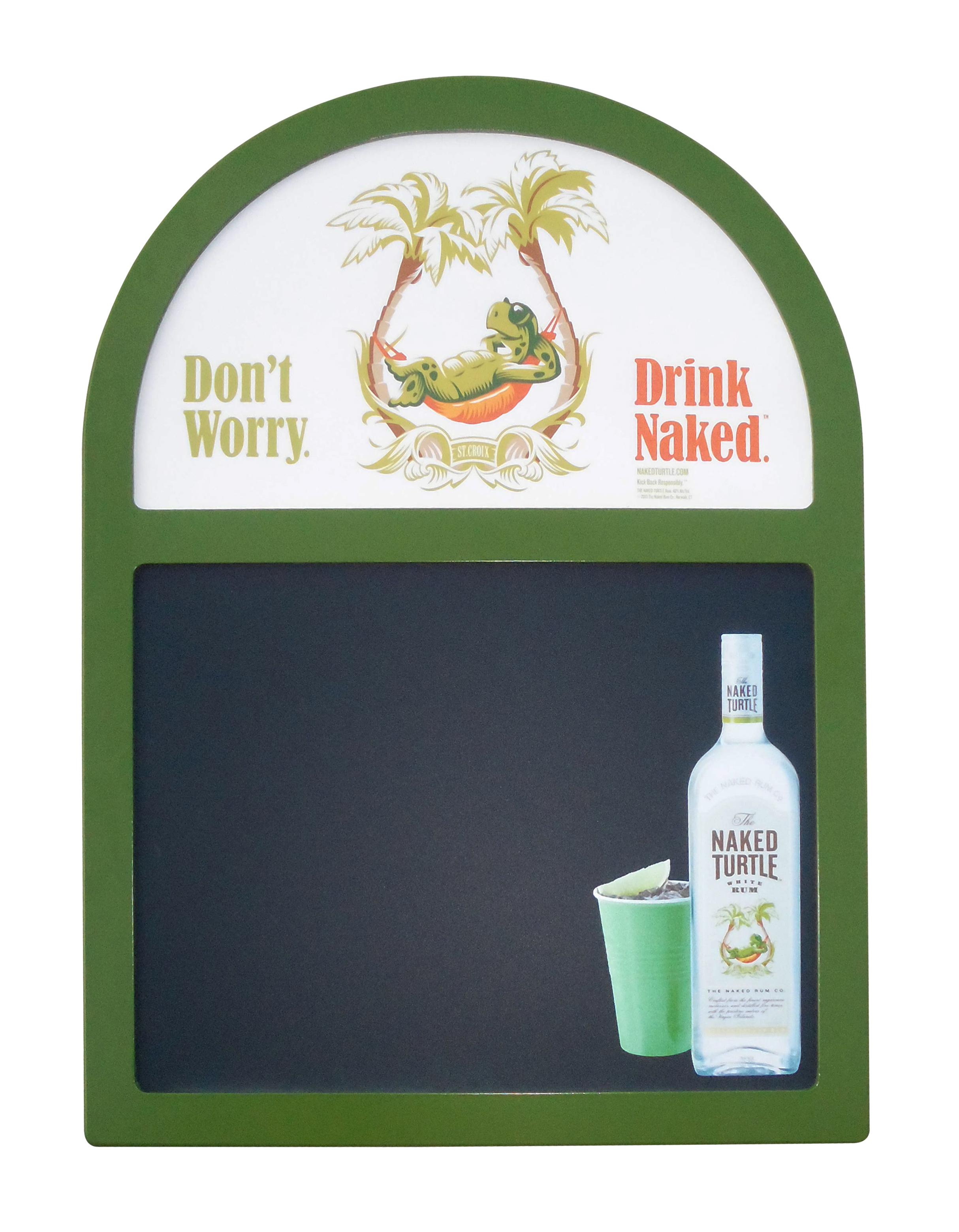 Naked Turtle Rum Chalkboard