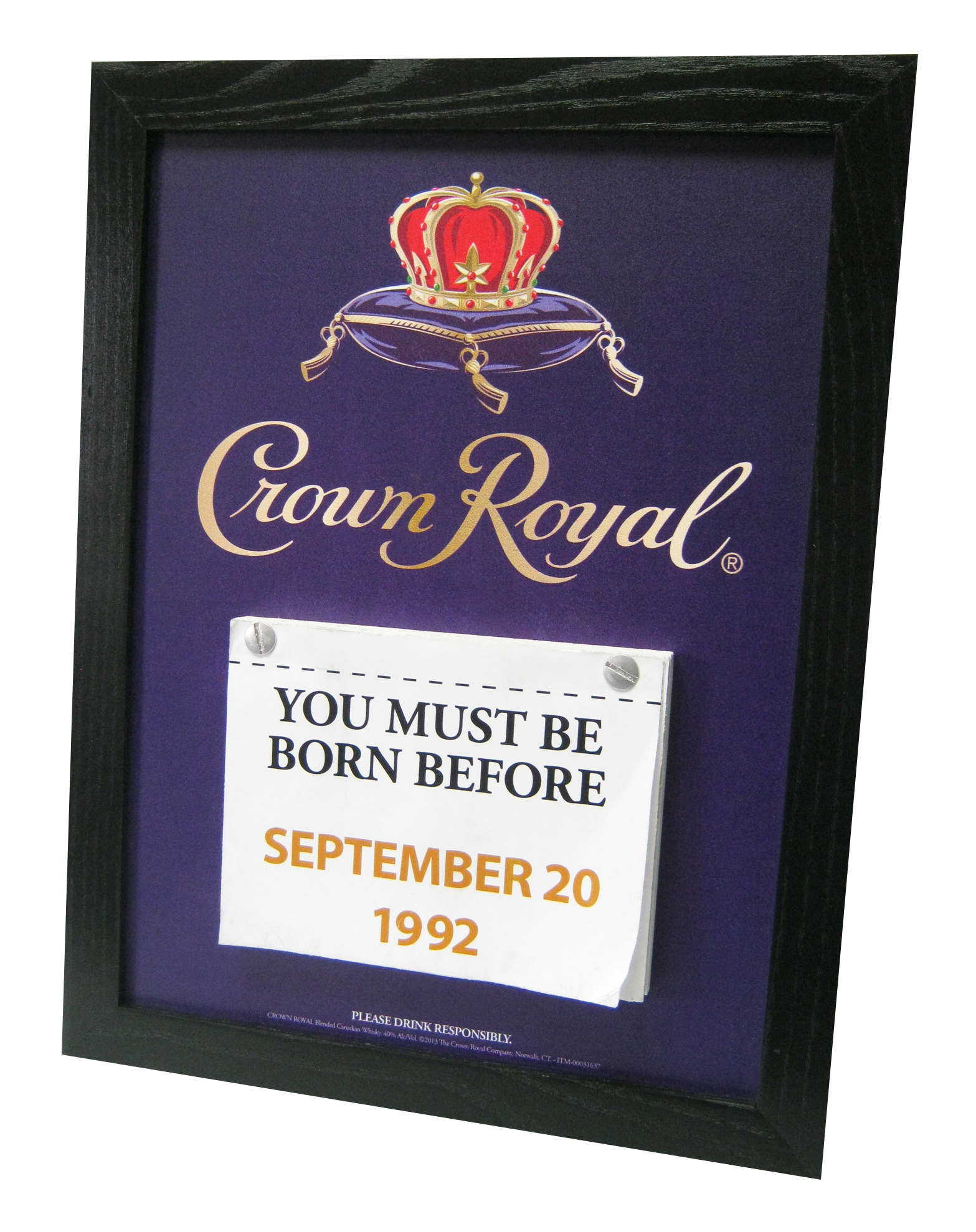Crown Royal Age Sign