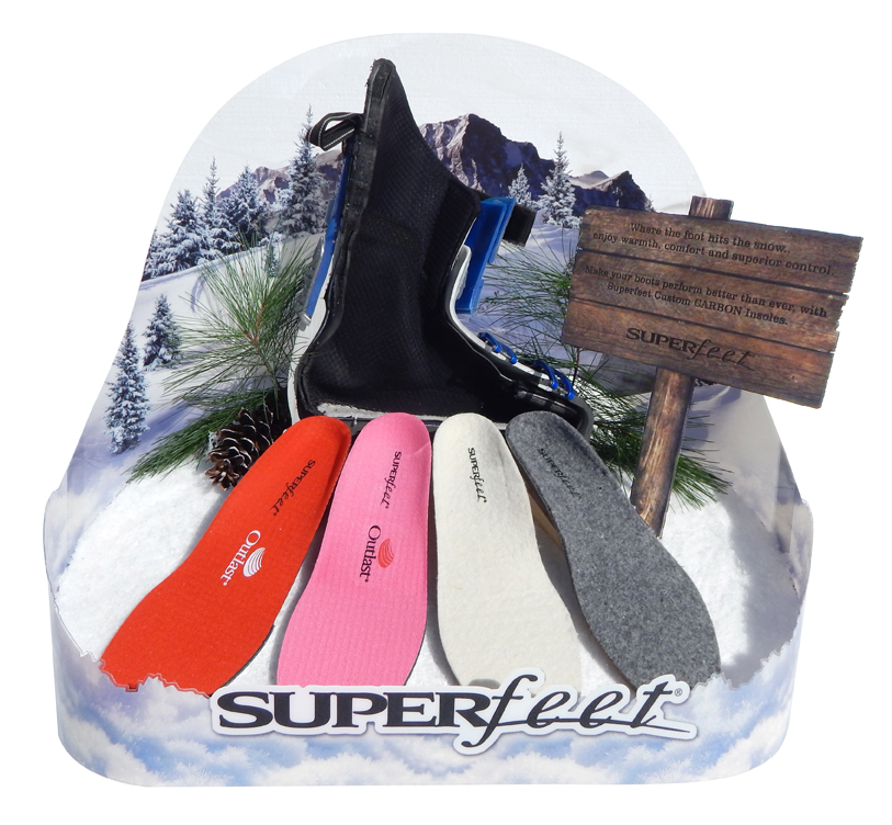 Super Feet Snow Display