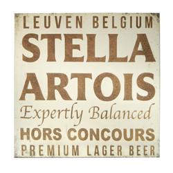 Stella Artois Sqaure Frameless Mirror 36