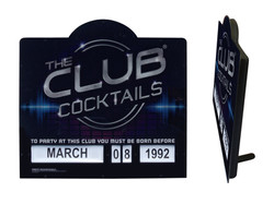 The Club Cocktails Age Sign