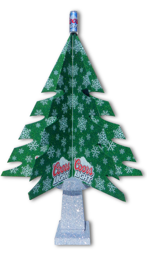 Coors Light Christmas Tree