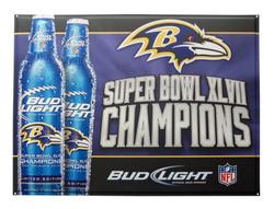 Bud Light Ravens Tacker Sign