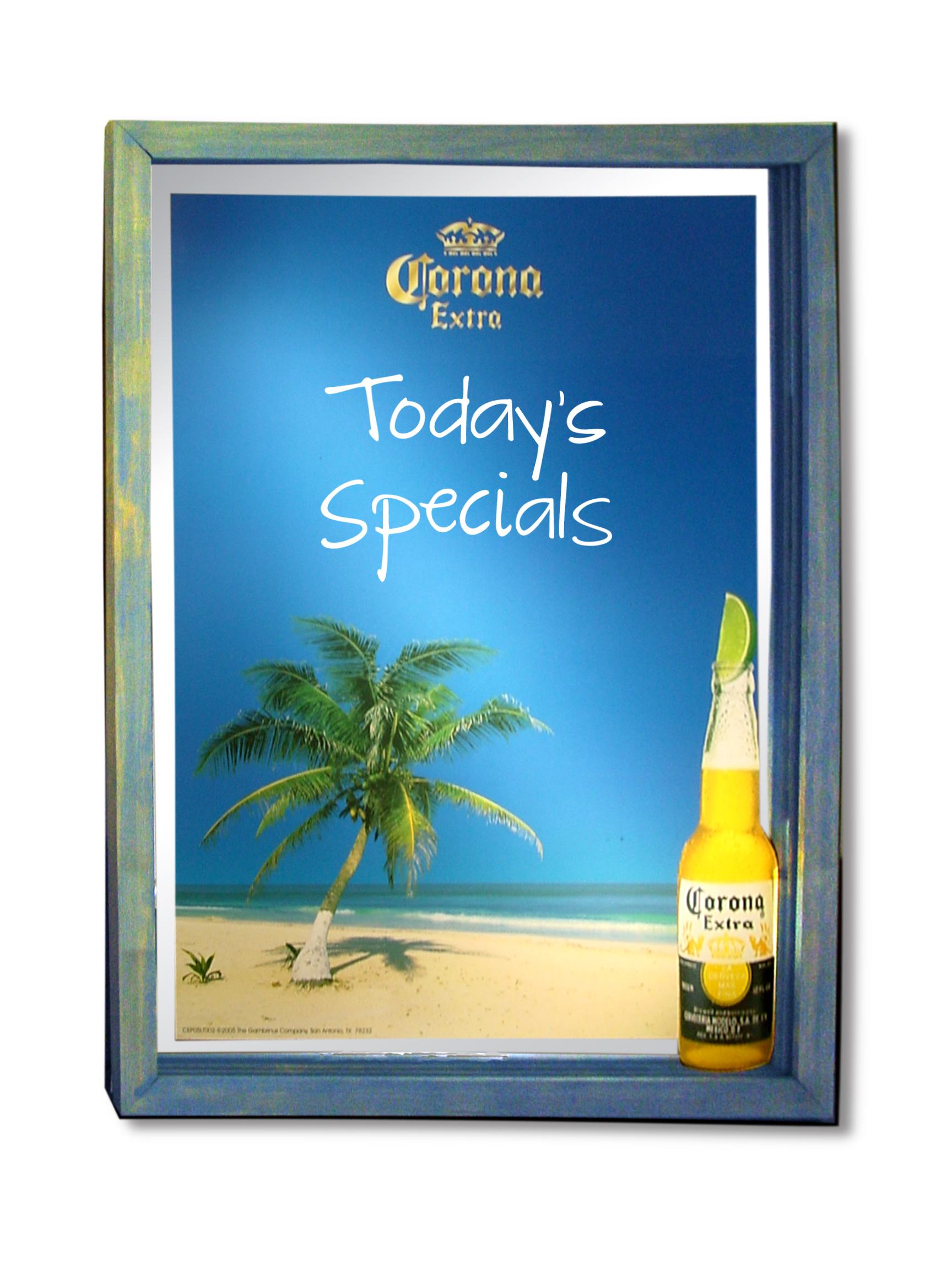 Corona Backlit Mirror Chalkboard