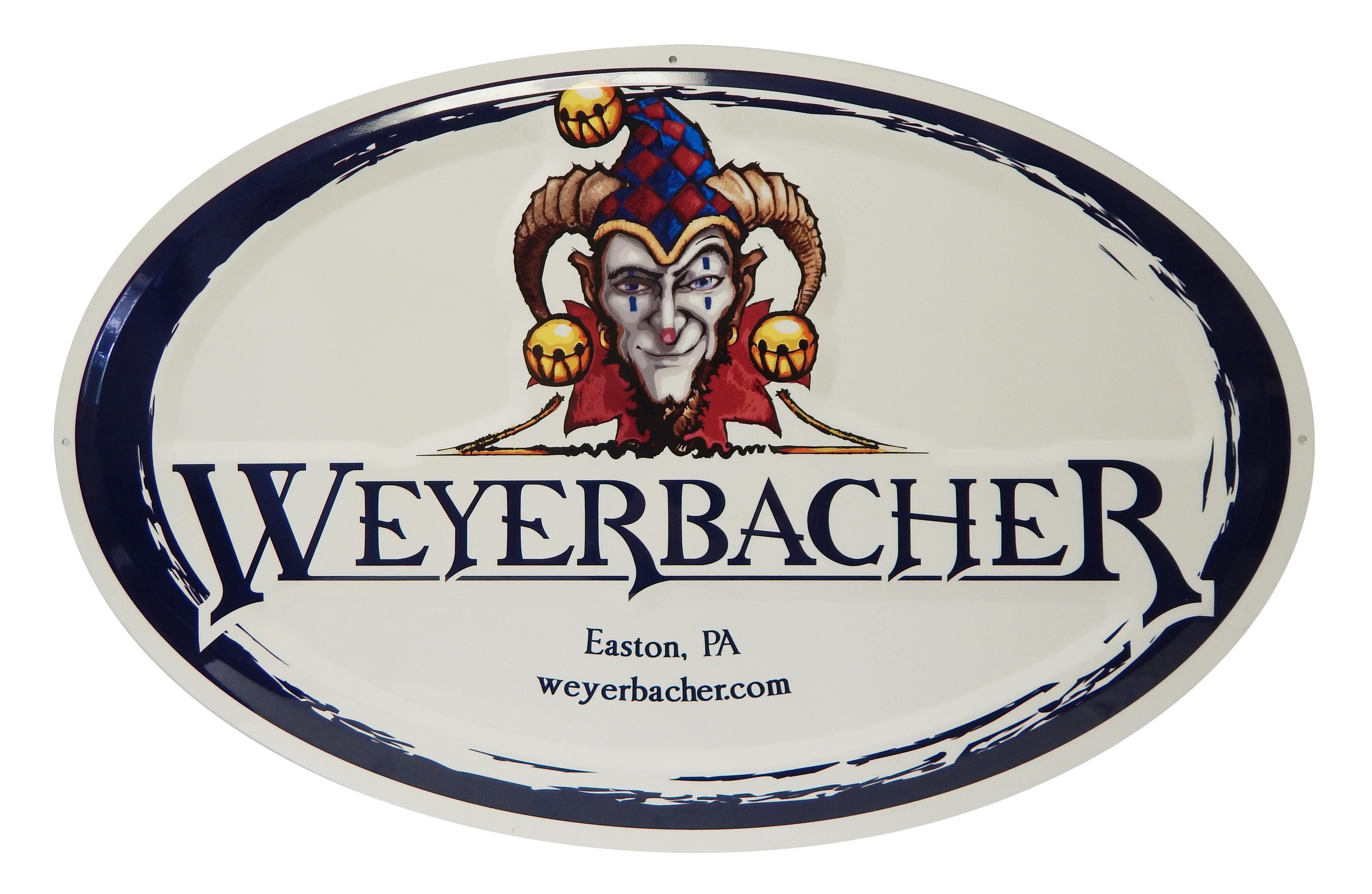 Weyerbacher Tacker Sign
