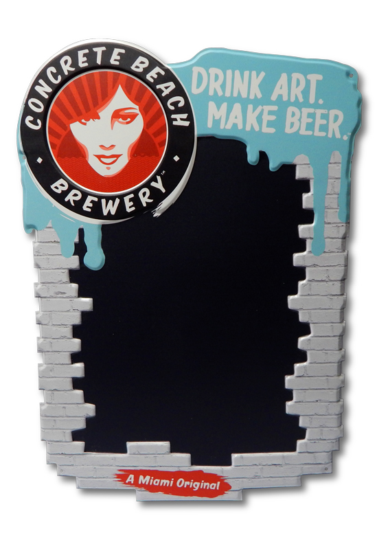 Concrete Beach Brewery Chalkboard