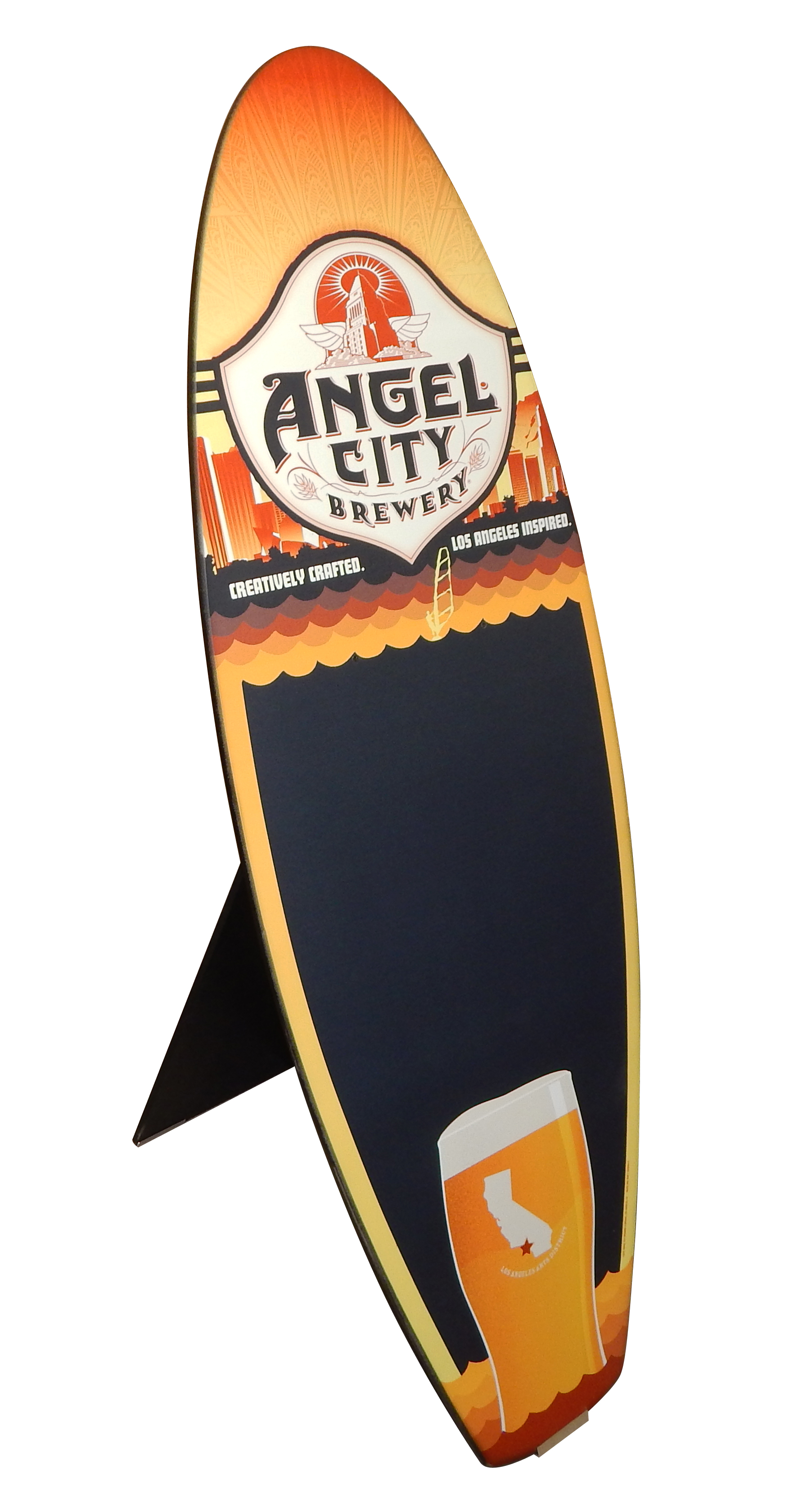 Angel City MDF Surfboard Chalkboard 2708
