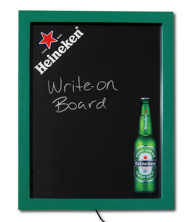 Heineken Edgelit Write-On Board