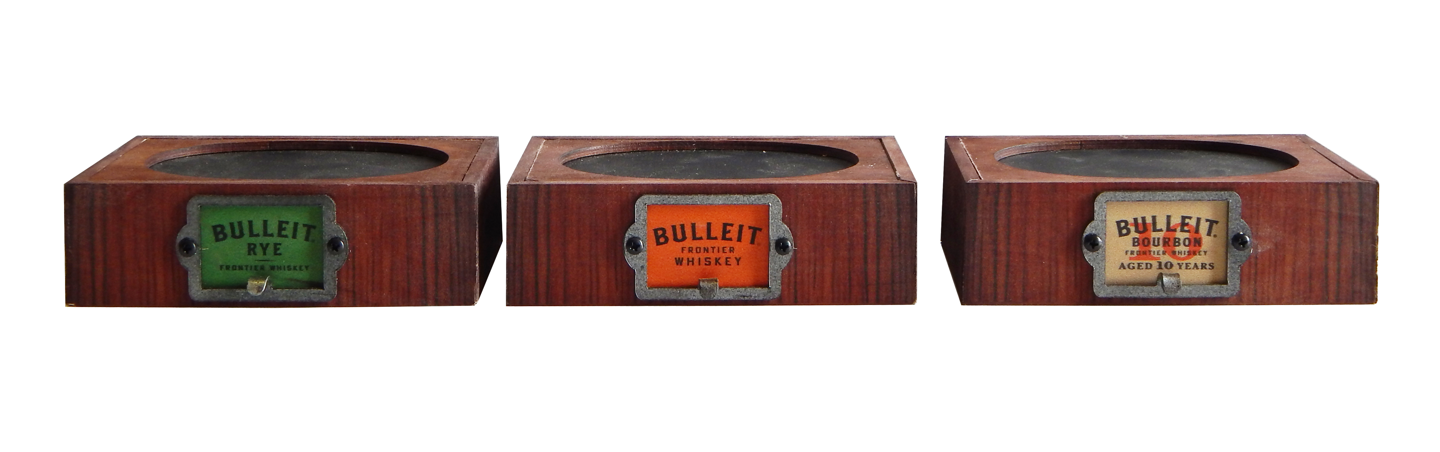 Bulleit Bottle Glorifier Set of 3 copy