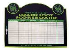 Lizard Loot Motivational Scoreboard
