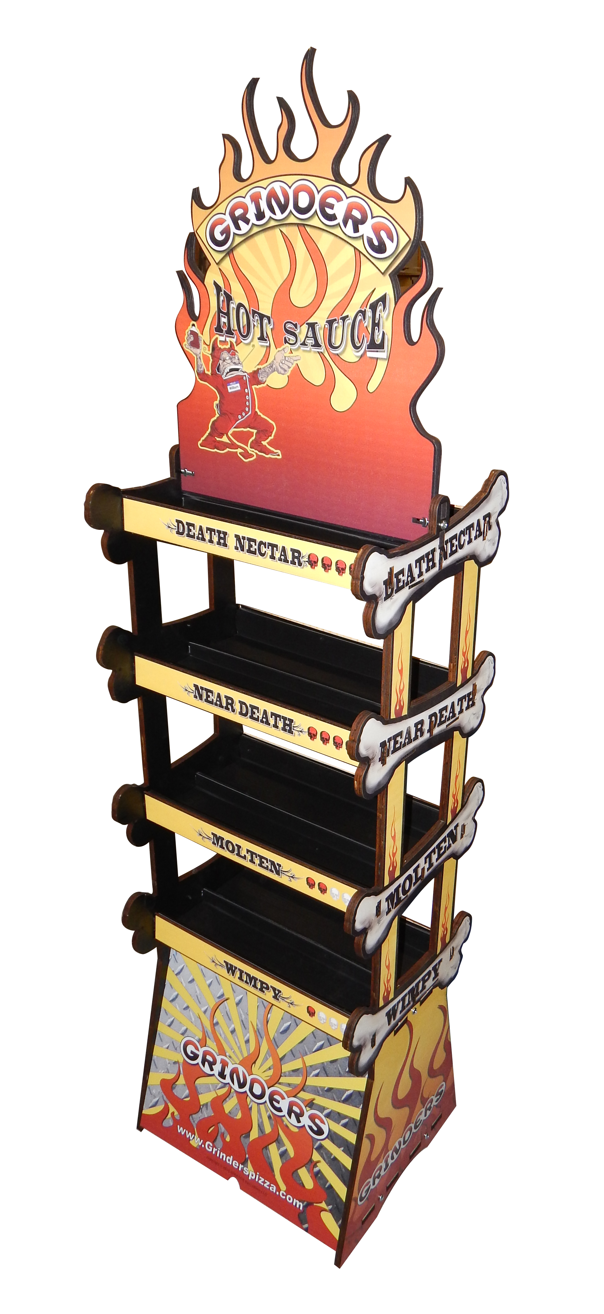 Grinders Hot Sauce Rack Display