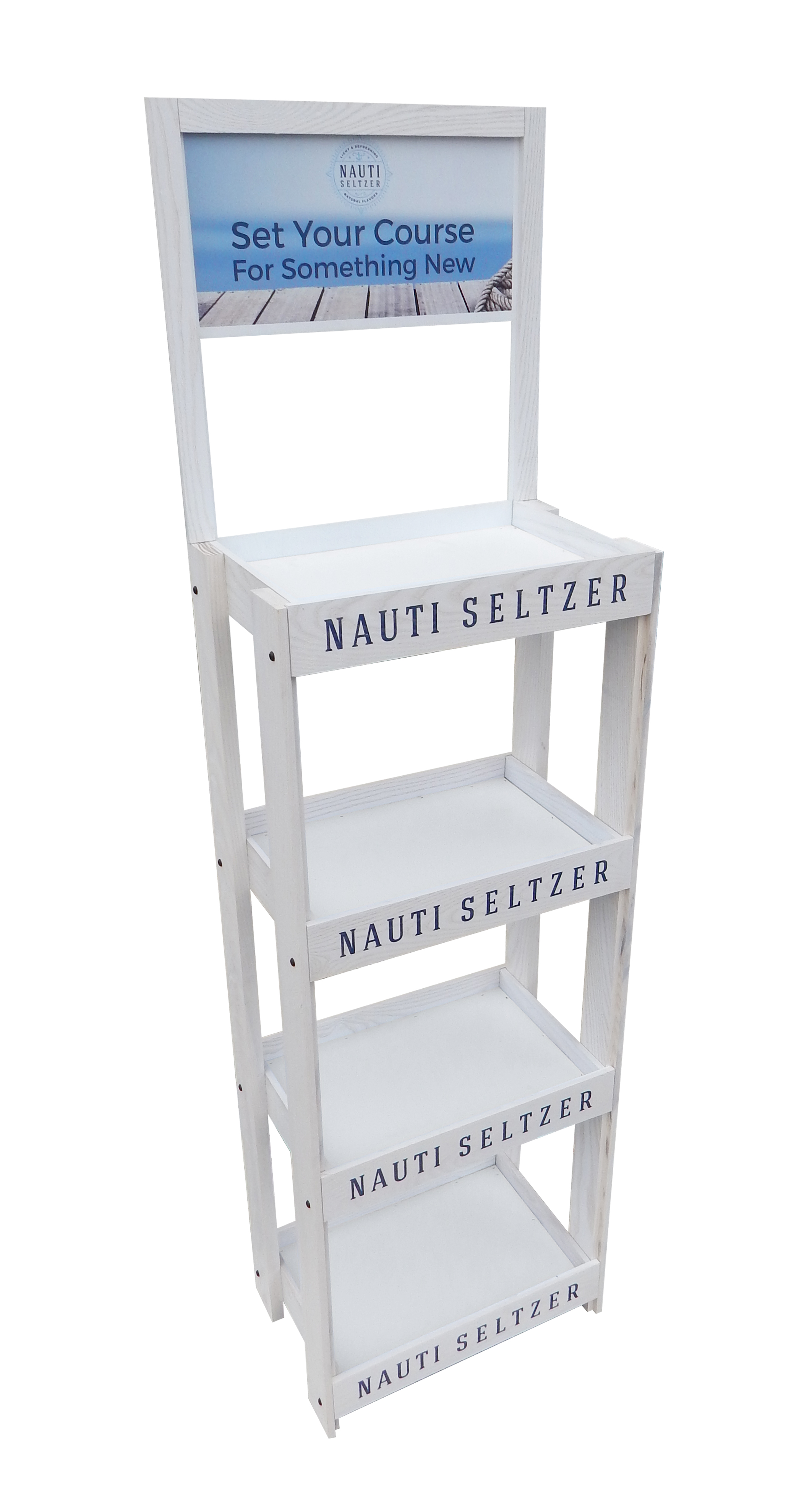 Nauti Seltzer Rack Display