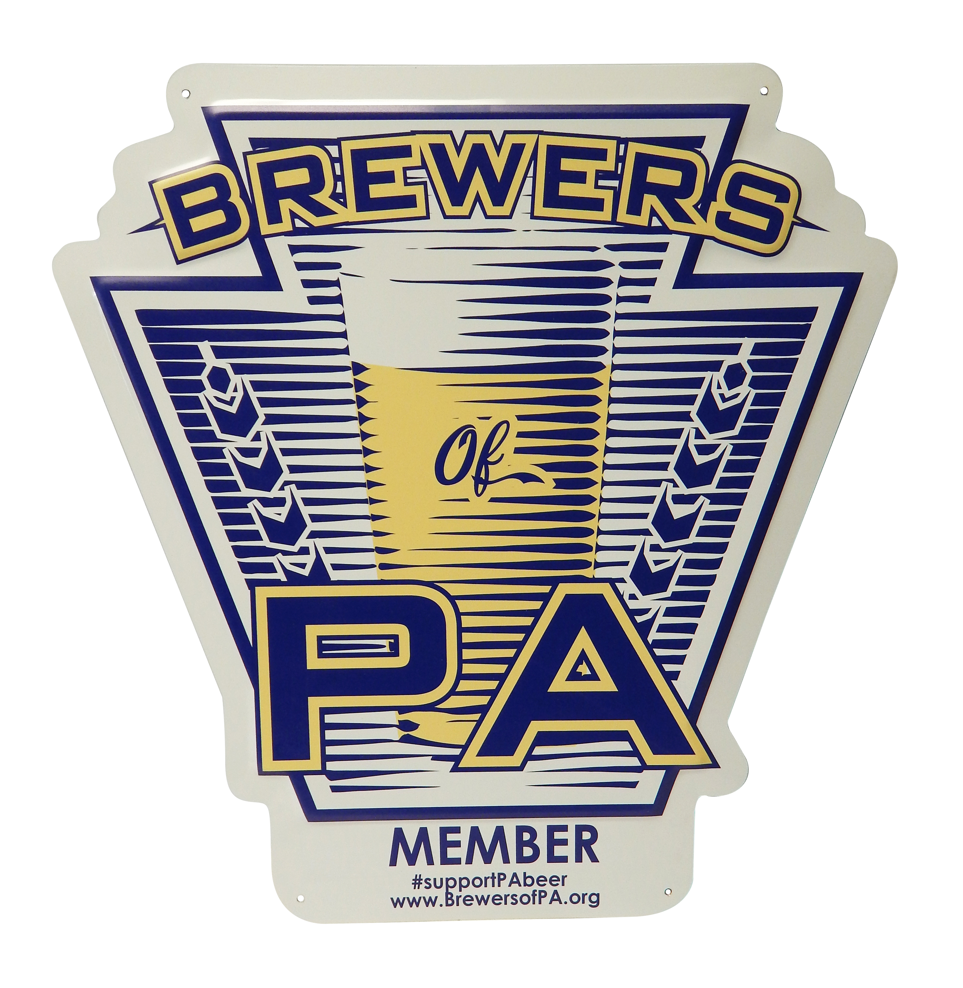 Brewers of PA Metal Tacker Sign