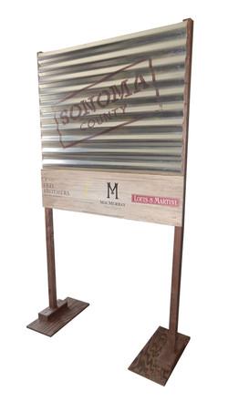 SDI-59 Sonoma Wine Sign Pole Topper 3395