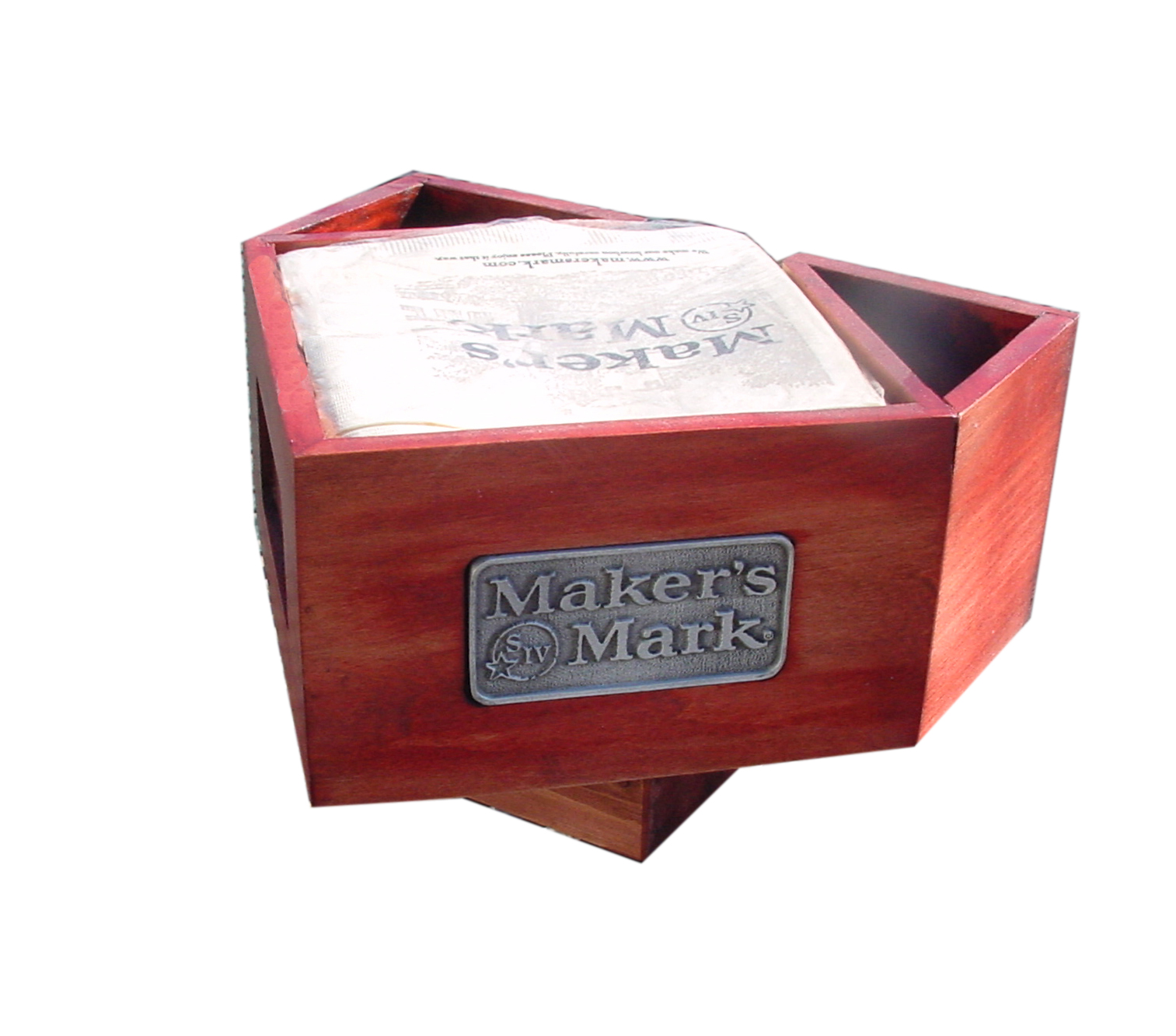 Maker's Mark Napkin Caddy