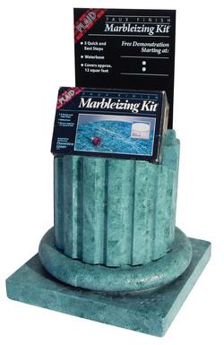 Plaid Marvleizing Kit Display