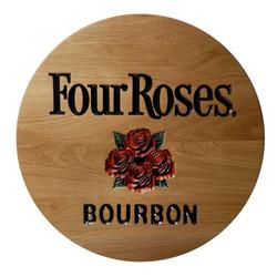 Four Roses Carved Barrelhead