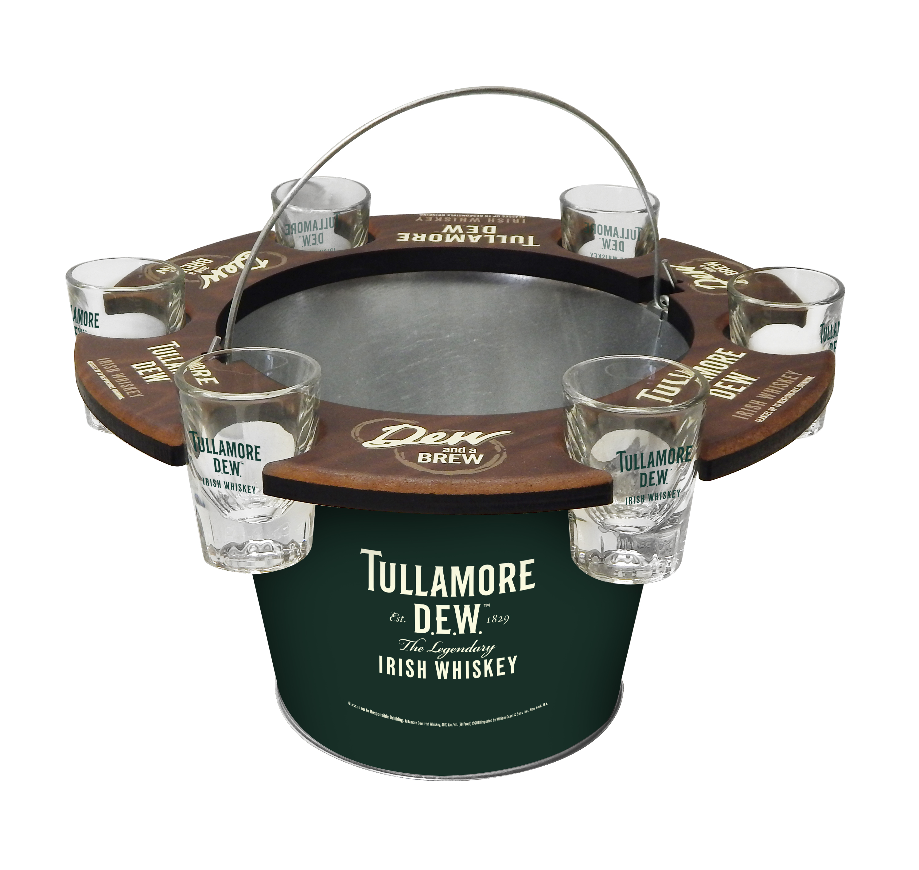 Tullamore Dew Bucket Shot Holder