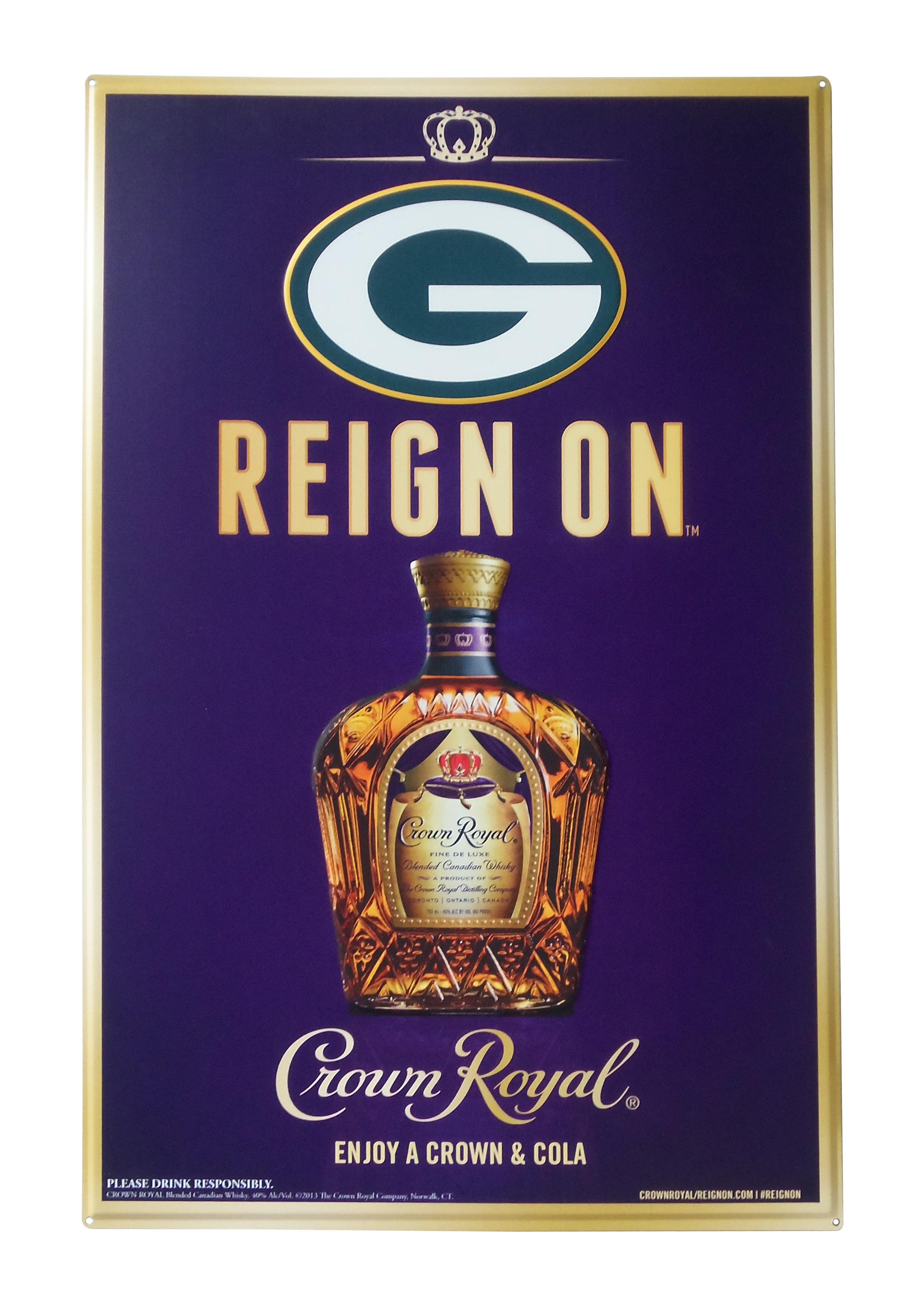 Crown Royal Packers Tacker Sign