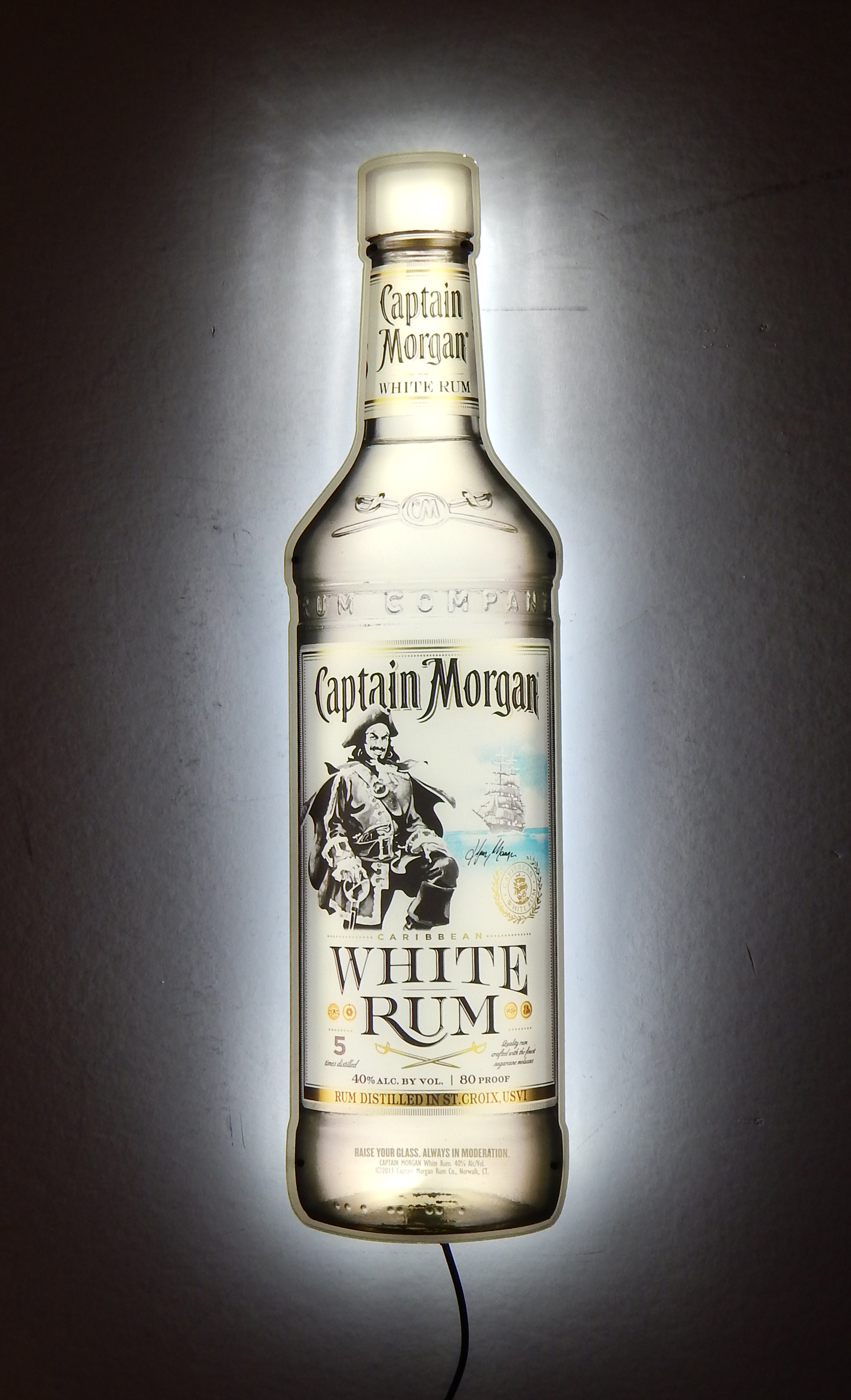 Captain Morgan White Rum Bottle LED