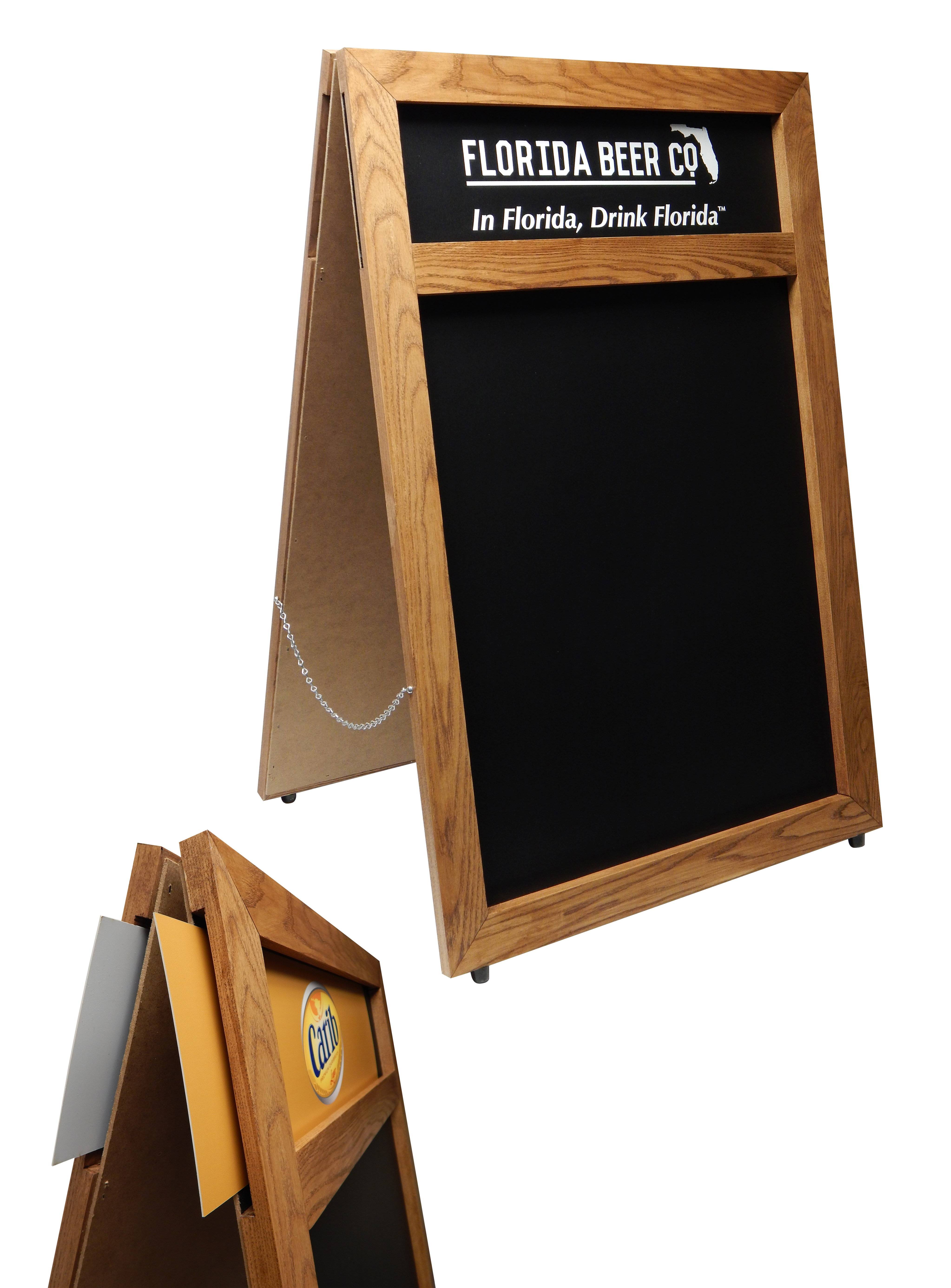 Florida Beer A-Frame with Changeable Hea