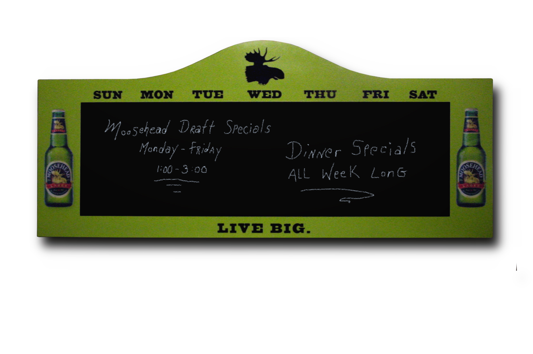 Moosehead Daily Special Chalkboard