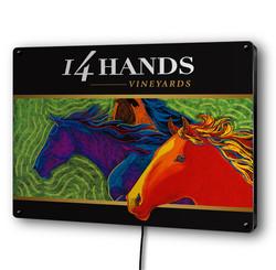 14 Hands LED Sign